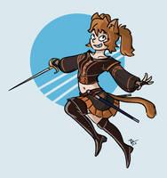 [C] Miautru - Catgirl Rogue by BrenZan