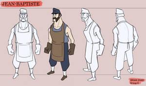 Jean-Baptiste character rotation by BrenZan