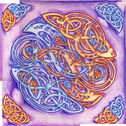 celtic dragon by Ikue