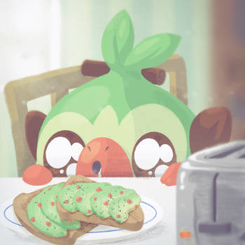Avocado Toast by Ikue