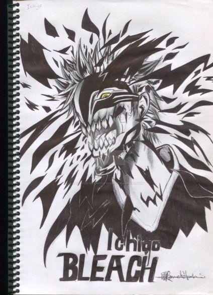 Bleach Anime Drawing ICHIGO By RotondwaRannditshen