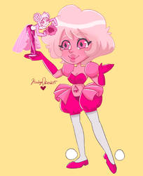 Pink diamond and Pink Pearl by KarolynDread115