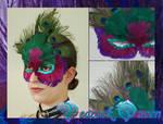 Peacock Queen Mask