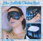 Blue Butterfly Domino Mask