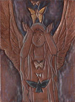 Leather ATC - Winged Priestess by Angelic-Artisan