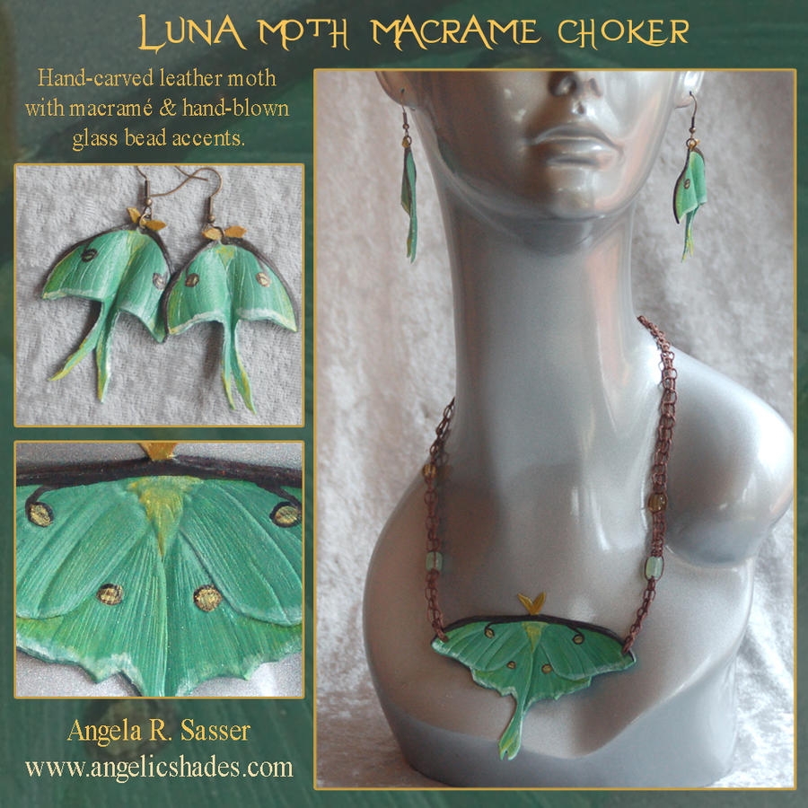 Luna Moth Jewelry Set by Angelic-Artisan
