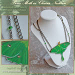 Luna Moth in Chains Necklace