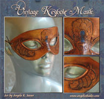 Vintage Keyhole Mask in Bronze by Angelic-Artisan