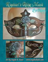 Kushiel's Rose Mask in Blue by Angelic-Artisan