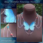 Blue Morpho Nouveau Necklace