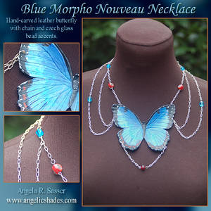 Blue Morpho Nouveau Necklace