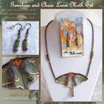 Gemstone and Chain Luna Moth Set