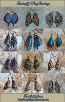 Leather Butterfly Wing Earrings 4-17-2012 by Angelic-Artisan