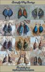 Leather Butterfly Wing Earrings 4-17-2012