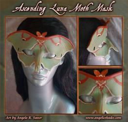 Ascending Luna Moth Mask by Angelic-Artisan