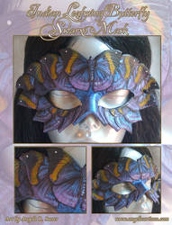 Indian Leafwing Butterfly Swarm Mask by Angelic-Artisan