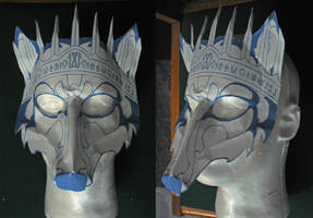 Crowned Dire Wolf Mask WiP by Angelic-Artisan