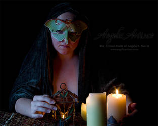 Luna Moth Mask I (featuring Lady Skygge) by Angelic-Artisan