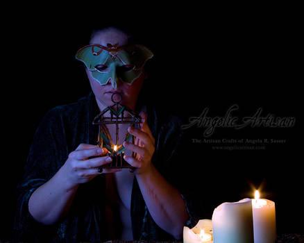 Luna Moth Mask II (featuring Lady Skygge)