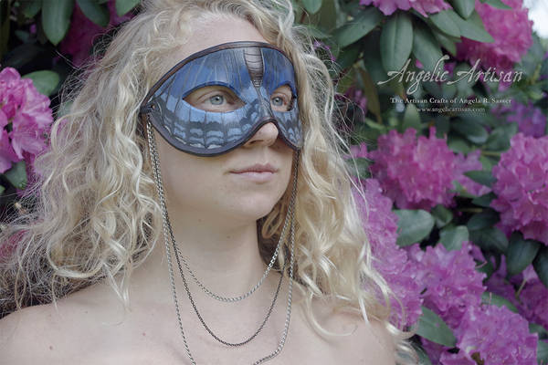 Blue Butterfly Necklace Mask feat. Lee Hakima
