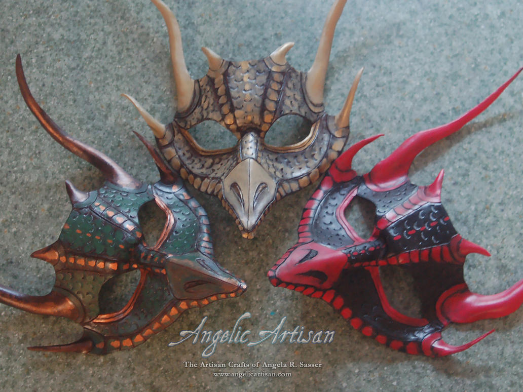 Dragon Triplet Masks by Angelic-Artisan