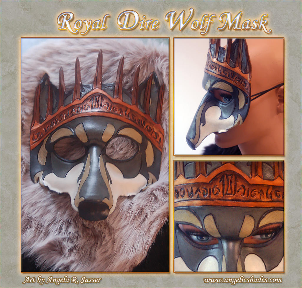 Royal Dire Wolf Mask by Angelic-Artisan