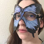 Blue Swallowtail Mask for Eyeglass Wearers