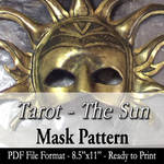 PATTERN: Tarot - The Sun Mask by Angelic-Artisan