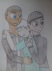 Detroit Become Human: The Main Trio by WritterInTheArtHat