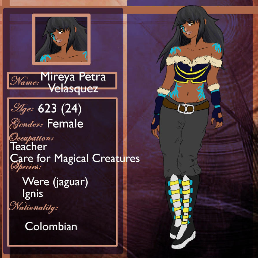 Mireya Velasquez - Care for Magical Creatures by deerly-hime