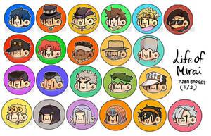 = JJBA 1-5 Badges =
