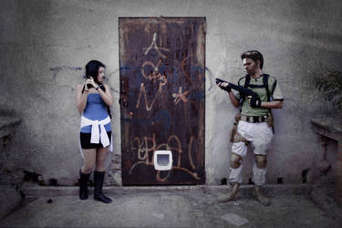 Jill Valentine y Chris Redfield 2-11-2012 by inu-yoyochan