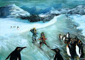 Icy Samurai Duel by sengarden