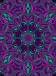 Jewel Tone Fractal Kaleidoscope