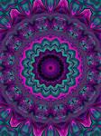 Jewel Tone Fractal Kaleidoscope 2