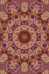 Pink and Gold Spiral Fractal Kaleidoscope 2