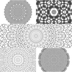 Mandala Coloring Pages 2 5 for $1