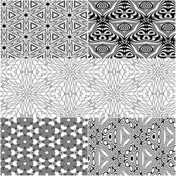 Seamless Pattern Coloring Pages 5 for $1