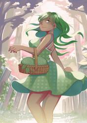 Honeydew melon by Simple-illust
