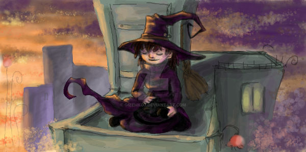 witch and her cat