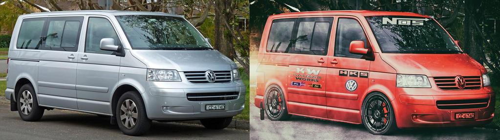 volkswagen-transporter tuning Before/After by Hunviper on DeviantArt