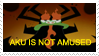 Aku is not amused stamp by teacupballerina