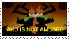 Aku is not amused stamp by teacupballerina