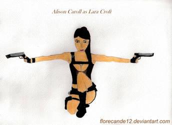 TR: Lara Croft pose by florecande12