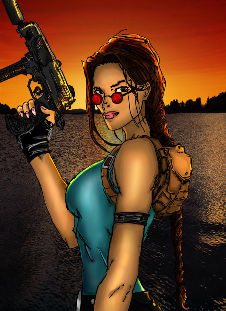 Lara Croft Classic comic by florecande12