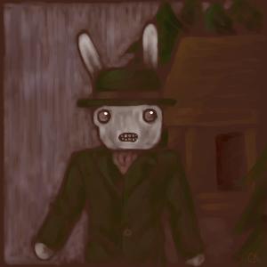 Mr Bunny goes to work. by WickedFerret