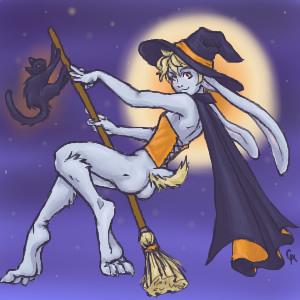Witchy Rabbit by WickedFerret