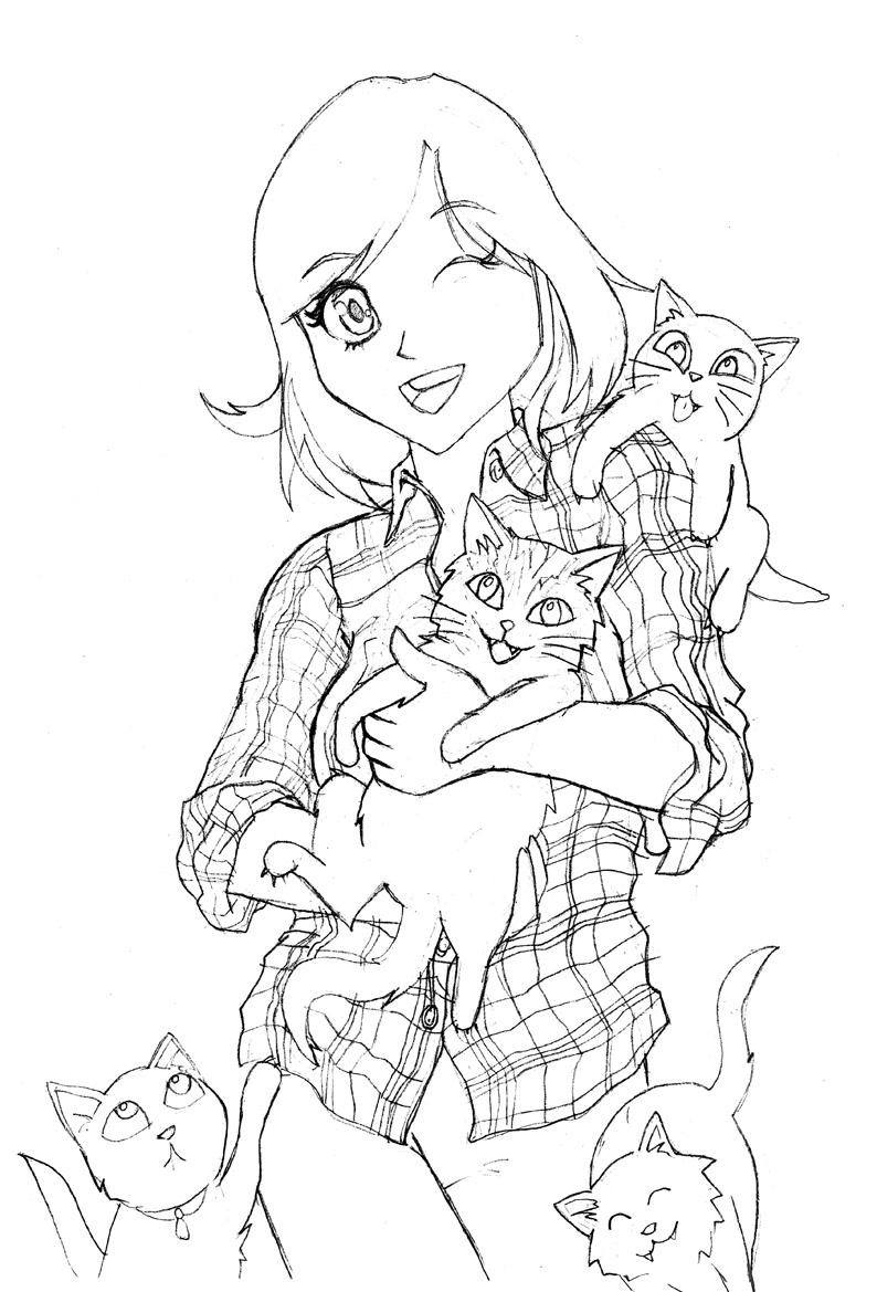Cat Girl - Pencils by DNM5555