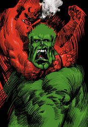Hell boy vs Hulk by lucasdametto