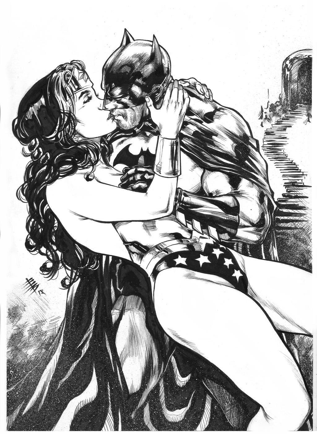 Batman romance wonder woman and What happen